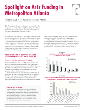 Spotlight on Arts Funding in Metropolitan Atlanta