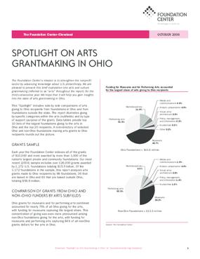Spotlight on Arts Grantmaking in Ohio 2006