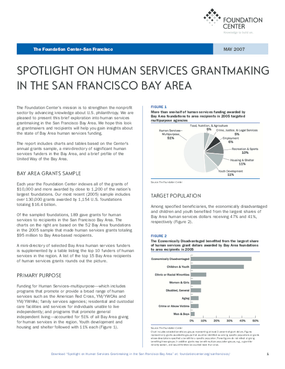 Spotlight on Human Services Grantmaking in the San Francisco Bay Area