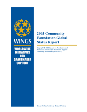 2003 Community Foundation Global Status Report