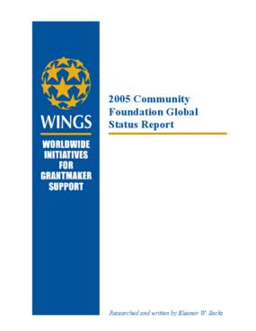 2005 Community Foundation Global Status Report