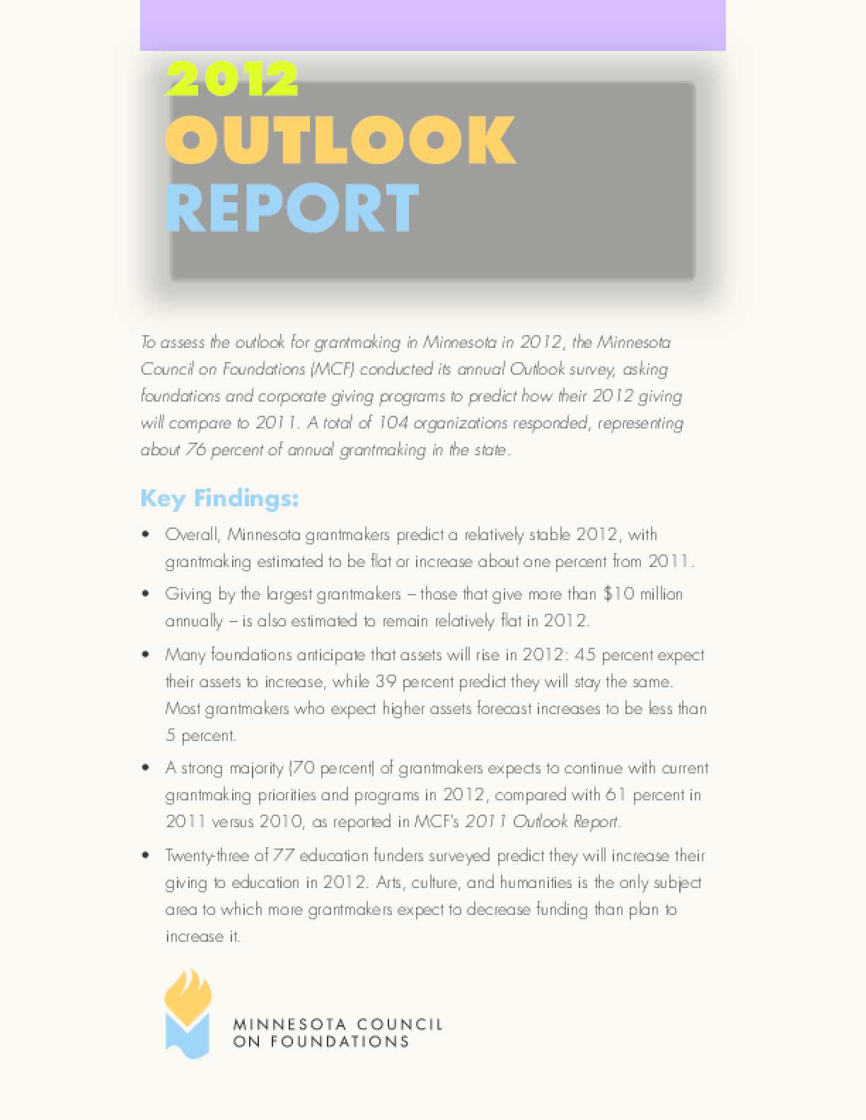 2012 Outlook Report