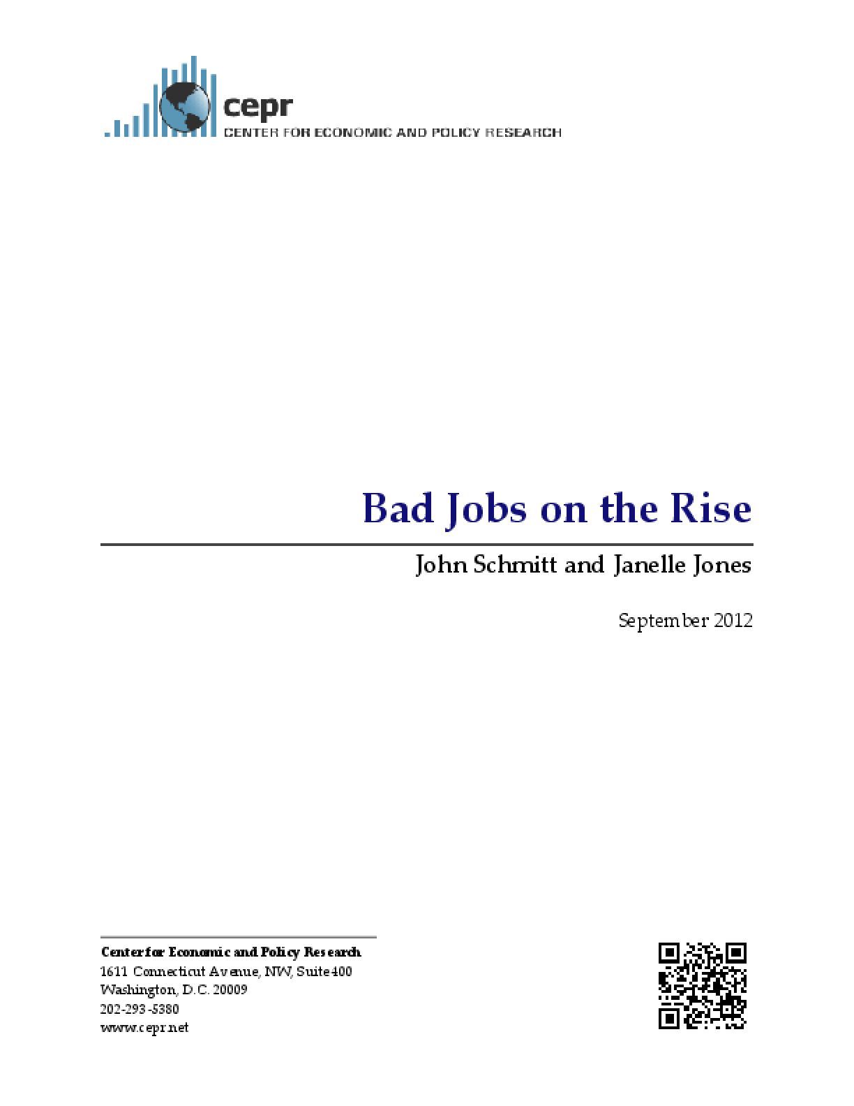 Bad Jobs on the Rise