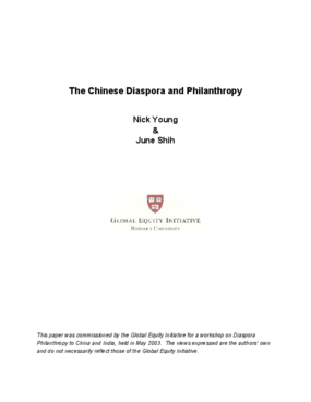The Chinese Diaspora and Philanthropy