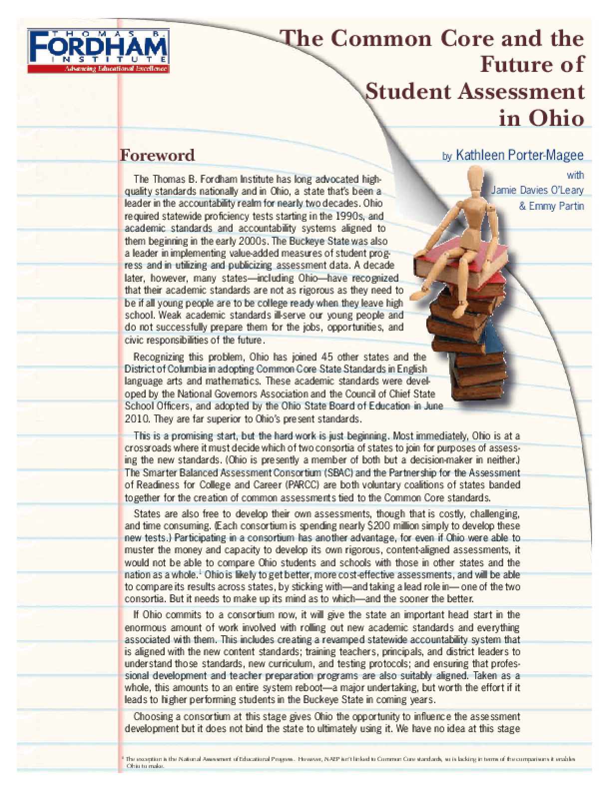 The Common Core and the Future of Student Assessment in Ohio