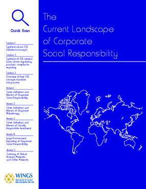 The Current Landscape of Corporate Social Responsibility