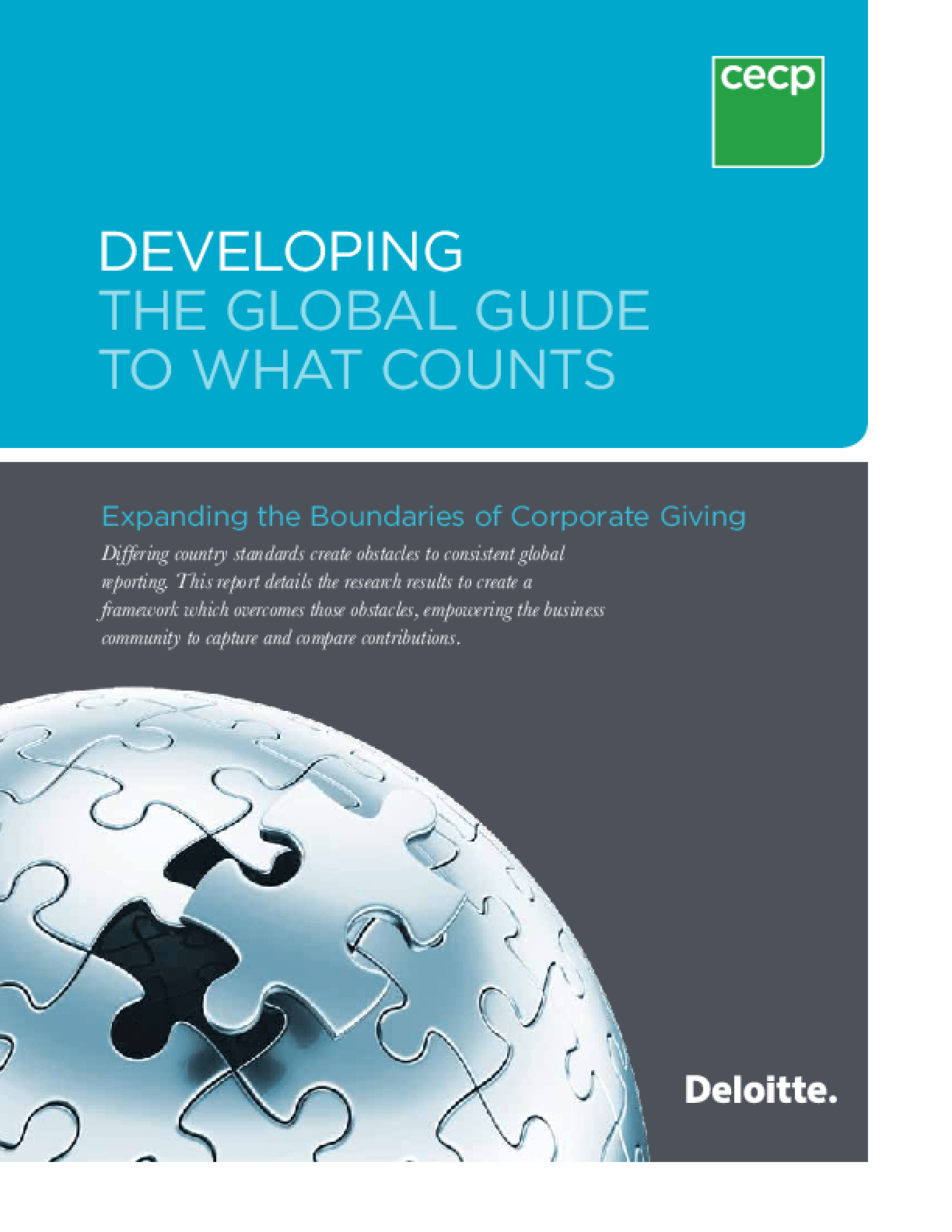 Developing the Global Guide: Expanding the Boundaries of Corporate Giving