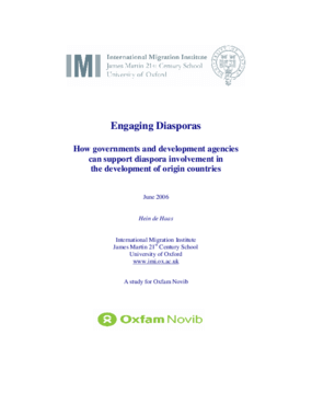 Engaging Diasporas: How Governments and Development Agencies Can Support Diaspora Involvement in the Development of Origin Countries