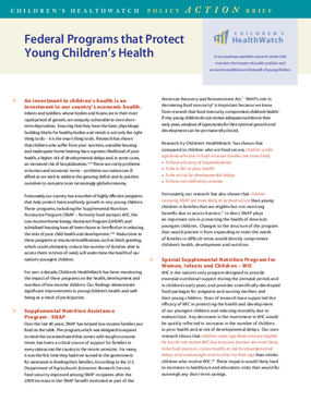 Federal Programs that Protect Young Children's Health