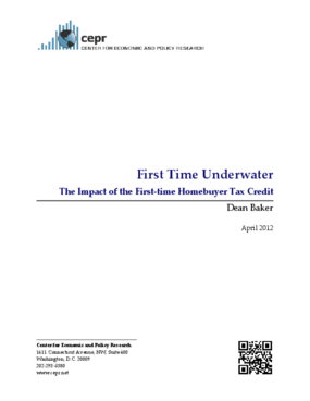 First Time Underwater: The Impact of the First-time Homebuyer Tax Credit