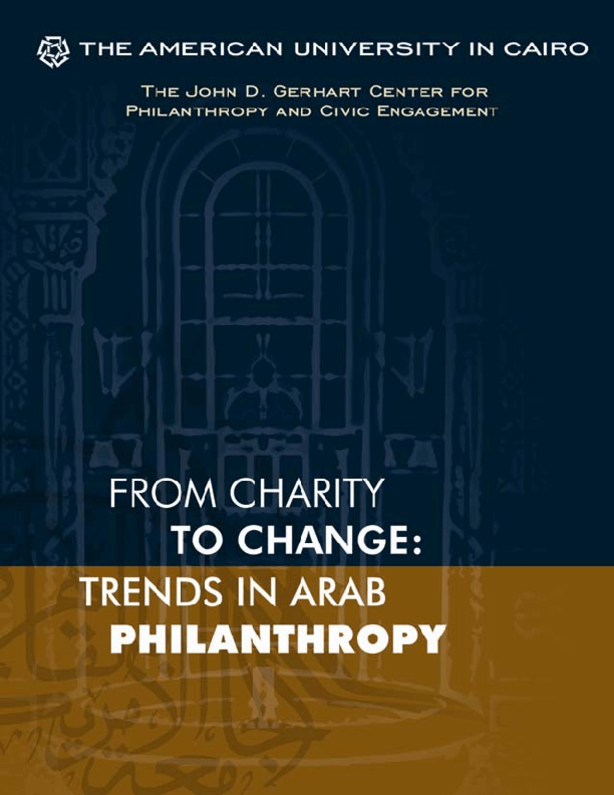 From Charity to Change: Trends in Arab Philanthropy