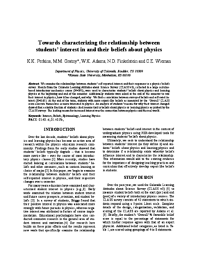 Towards characterizing the relationship between students' interest in and their beliefs about physics