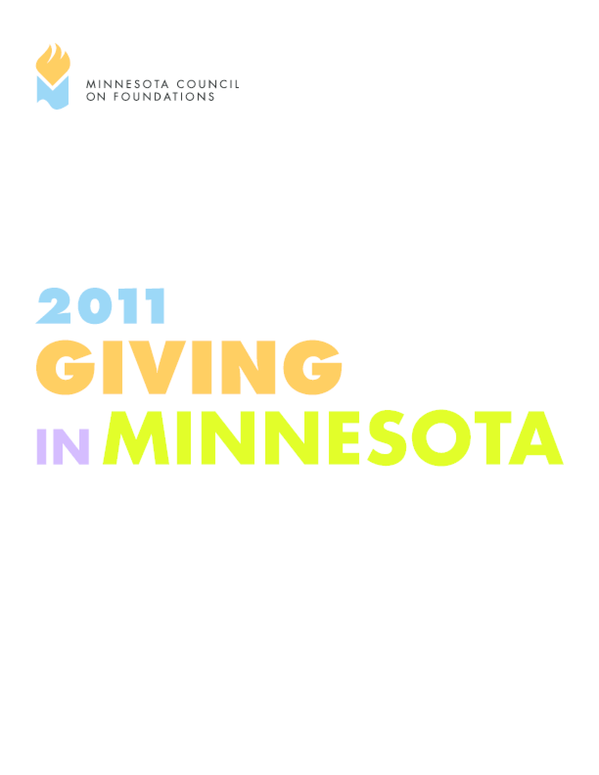 Giving in Minnesota, 2011 Edition