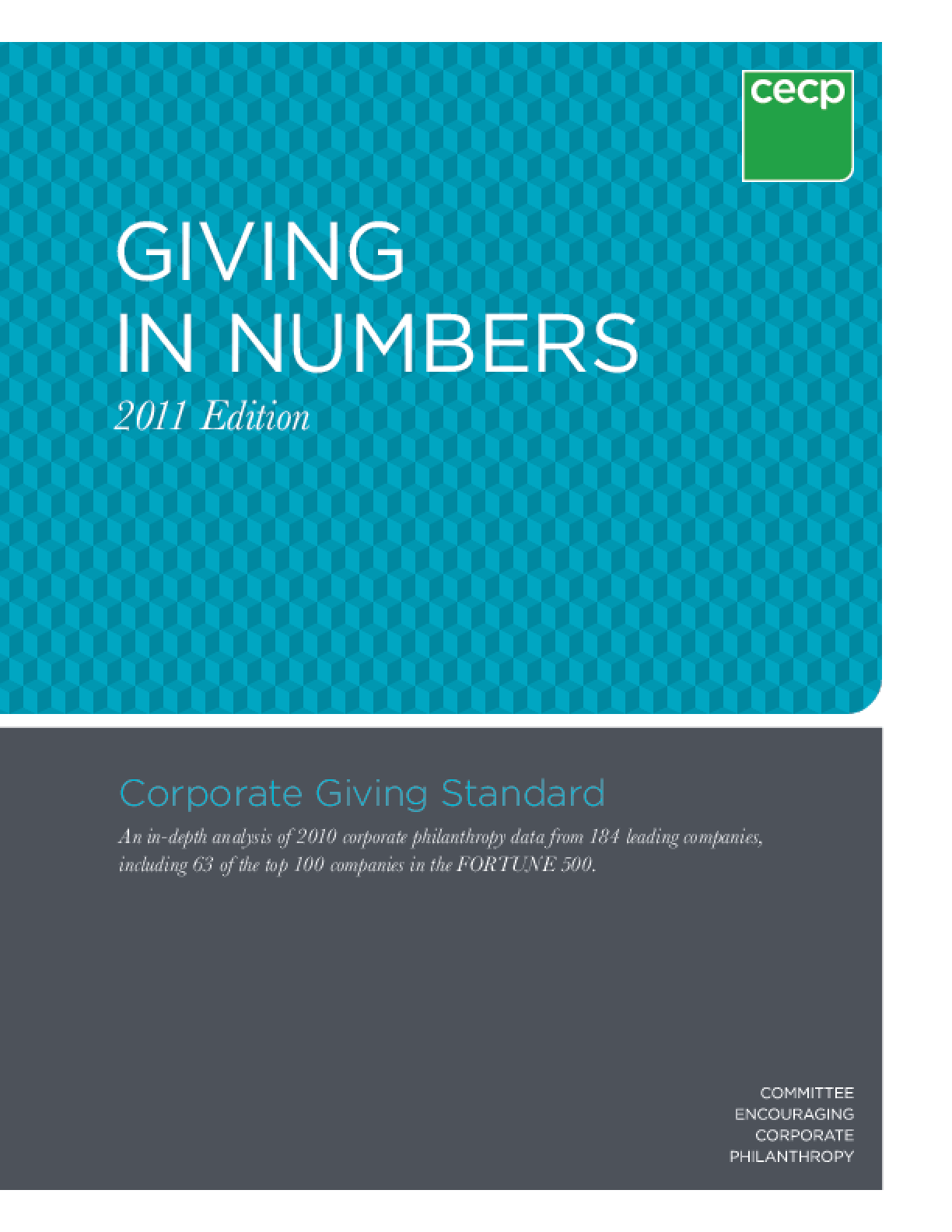 Giving in Numbers: 2011 Edition