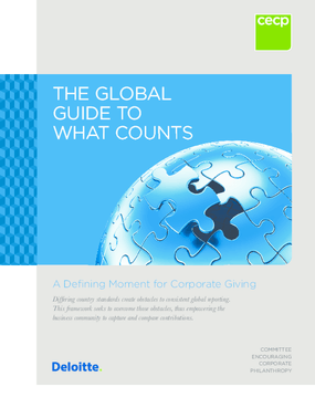 The Global Guide to What Counts: A Defining Moment for Corporate Giving