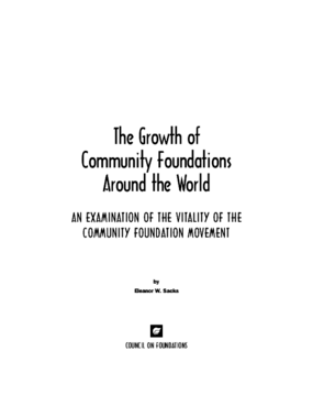 The Growth of Community Foundations Around the World: An Examination of the Vitality of the Community Foundation Movement