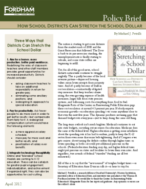 How School Districts Can Stretch the School Dollar