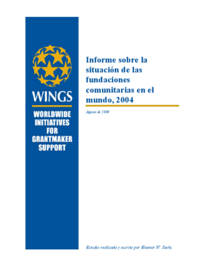 Informe sobre la situación de las fundaciones comunitarias en el mundo, 2004: Parte I: Resumen, tendencias internacionales, reflexiones