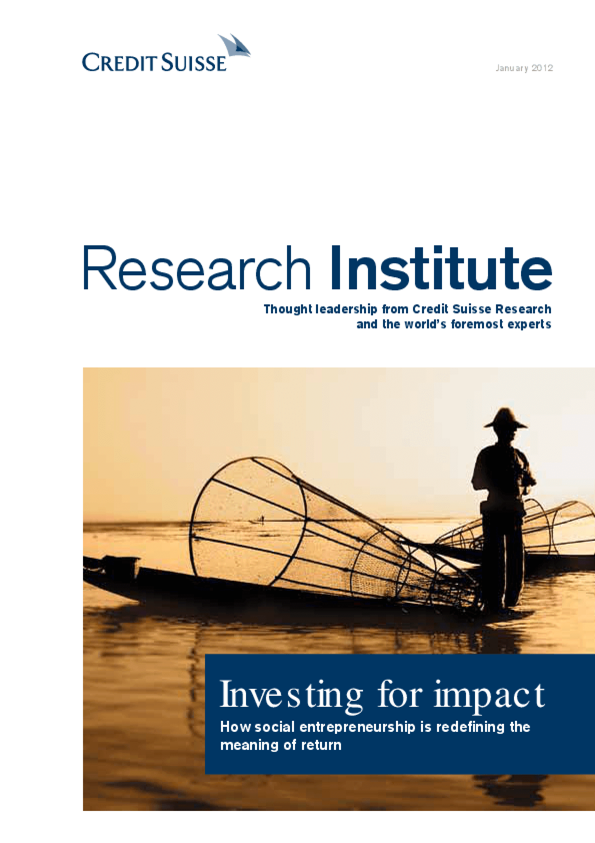Investing for Impact: How Social Entrepreneurship is Redefining the Meaning of Return