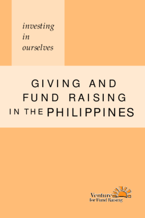 Investing in Ourselves: Giving and Fund Raising in the Philippines