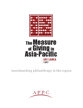 Measure of Giving in Asia Pacific: Sri Lanka 2007