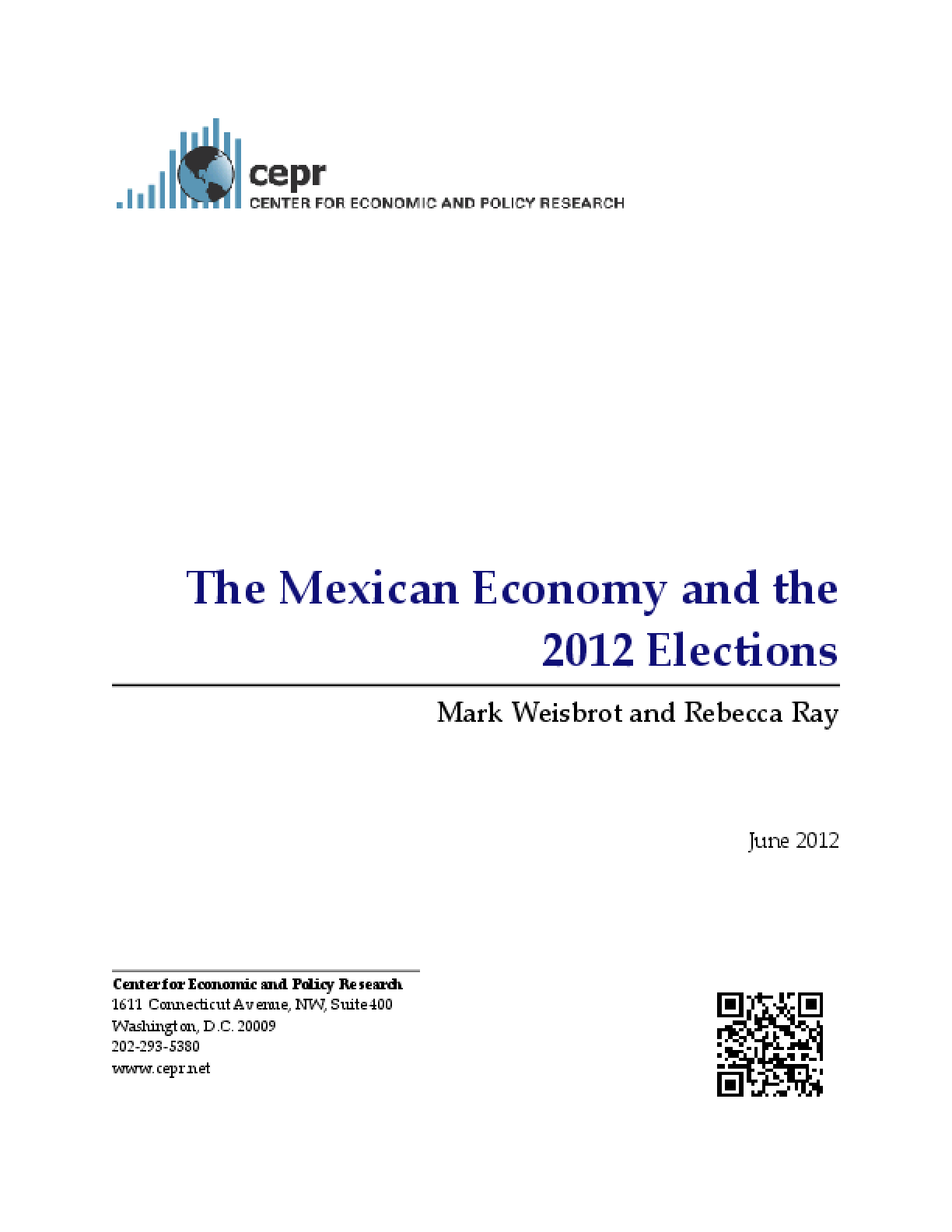 The Mexican Economy and the 2012 Elections