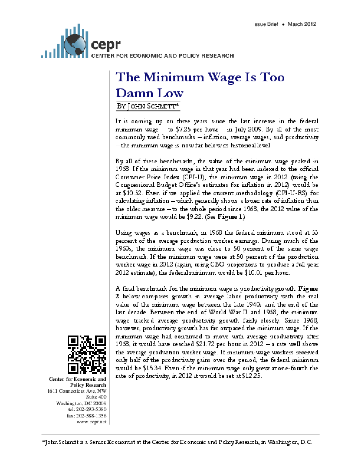 The Minimum Wage Is Too Damn Low