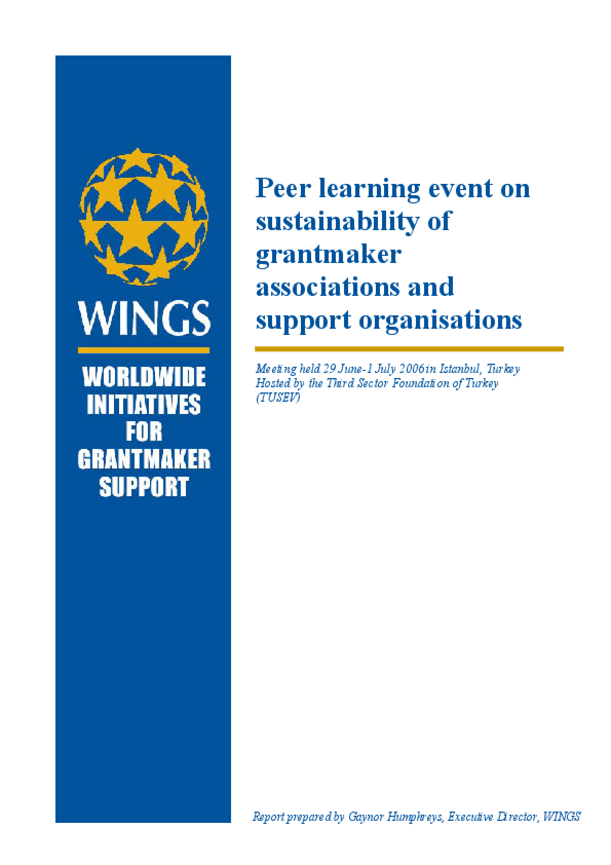 Peer Learning Event on Sustainability of Grantmaker Associations and Support Organisations