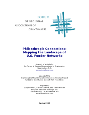 Philanthropic Connections: Mapping the Landscape of U.S. Funder Networks