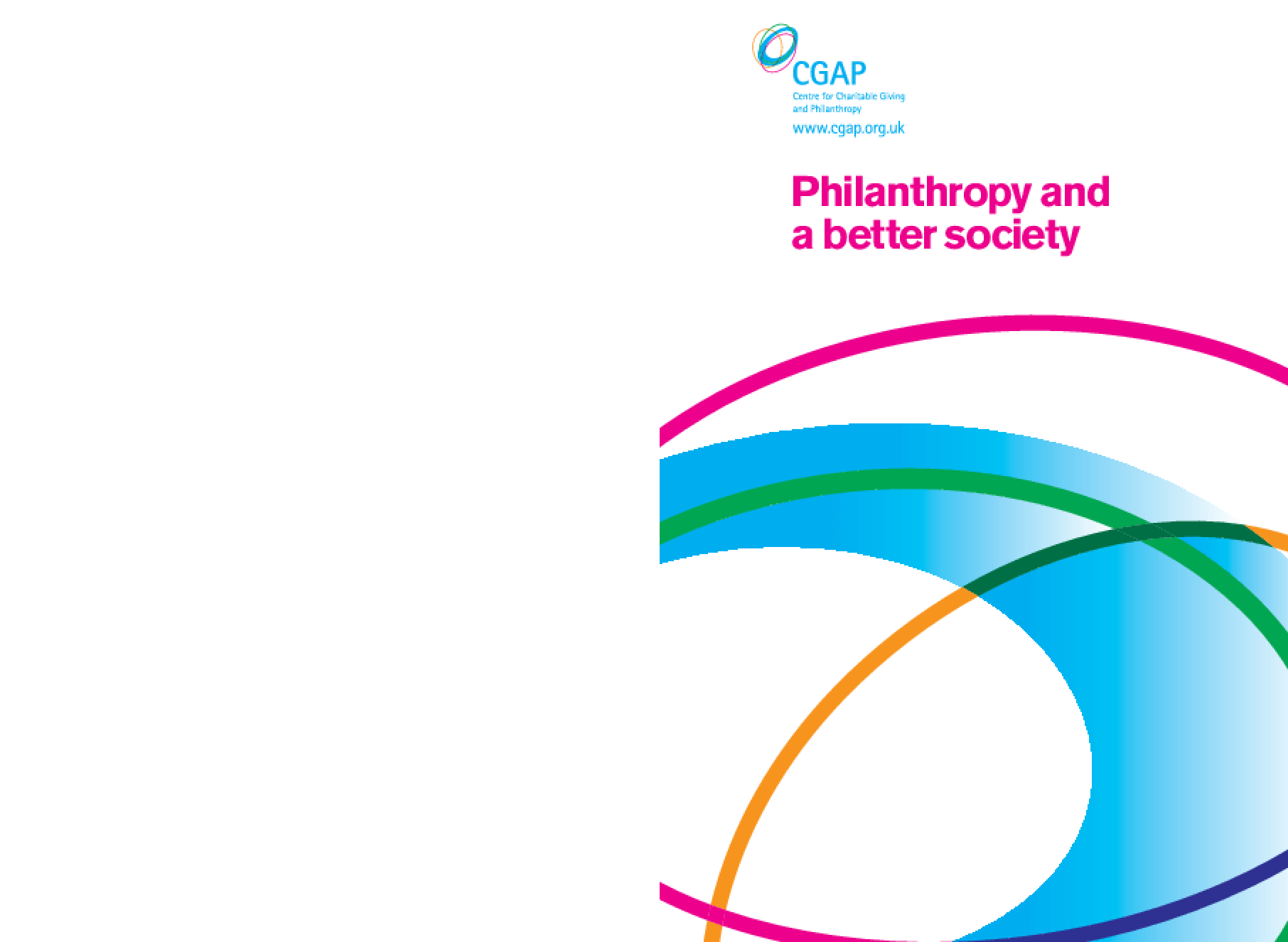 Philanthropy and a Better Society