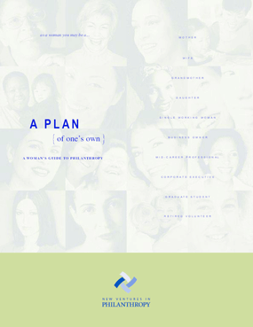 A Plan of One's Own: A Woman's Guide to Philanthropy