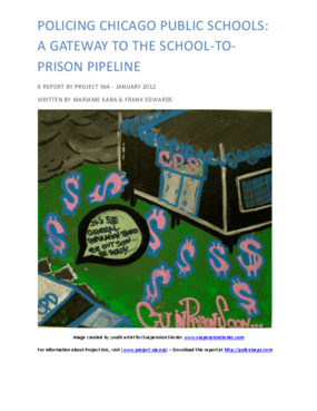 Policing Chicago Public Schools: A Gateway to the School-to-Prison Pipeline