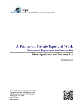 A Primer on Private Equity at Work: Management, Employment, and Sustainability