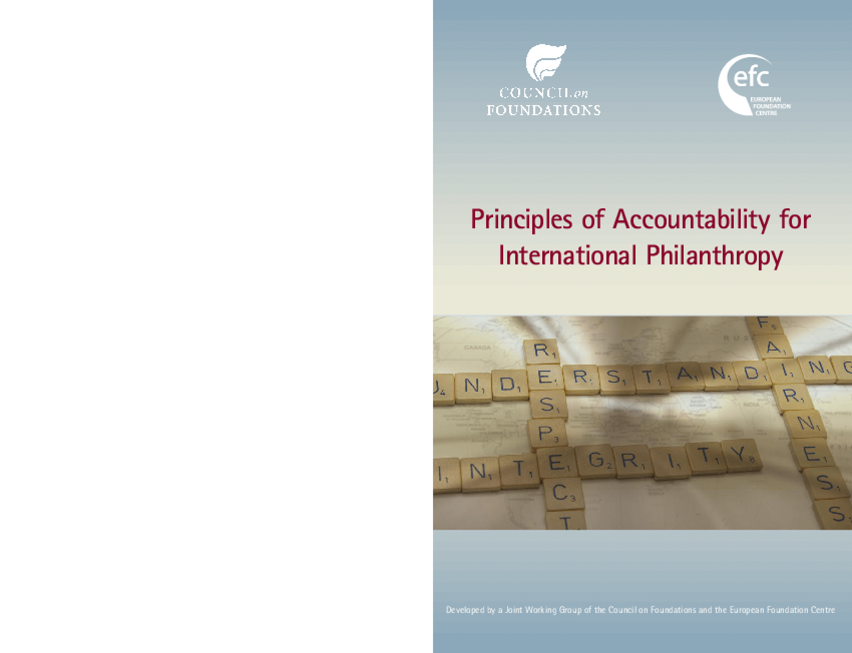 Principles of Accountability for International Philanthropy