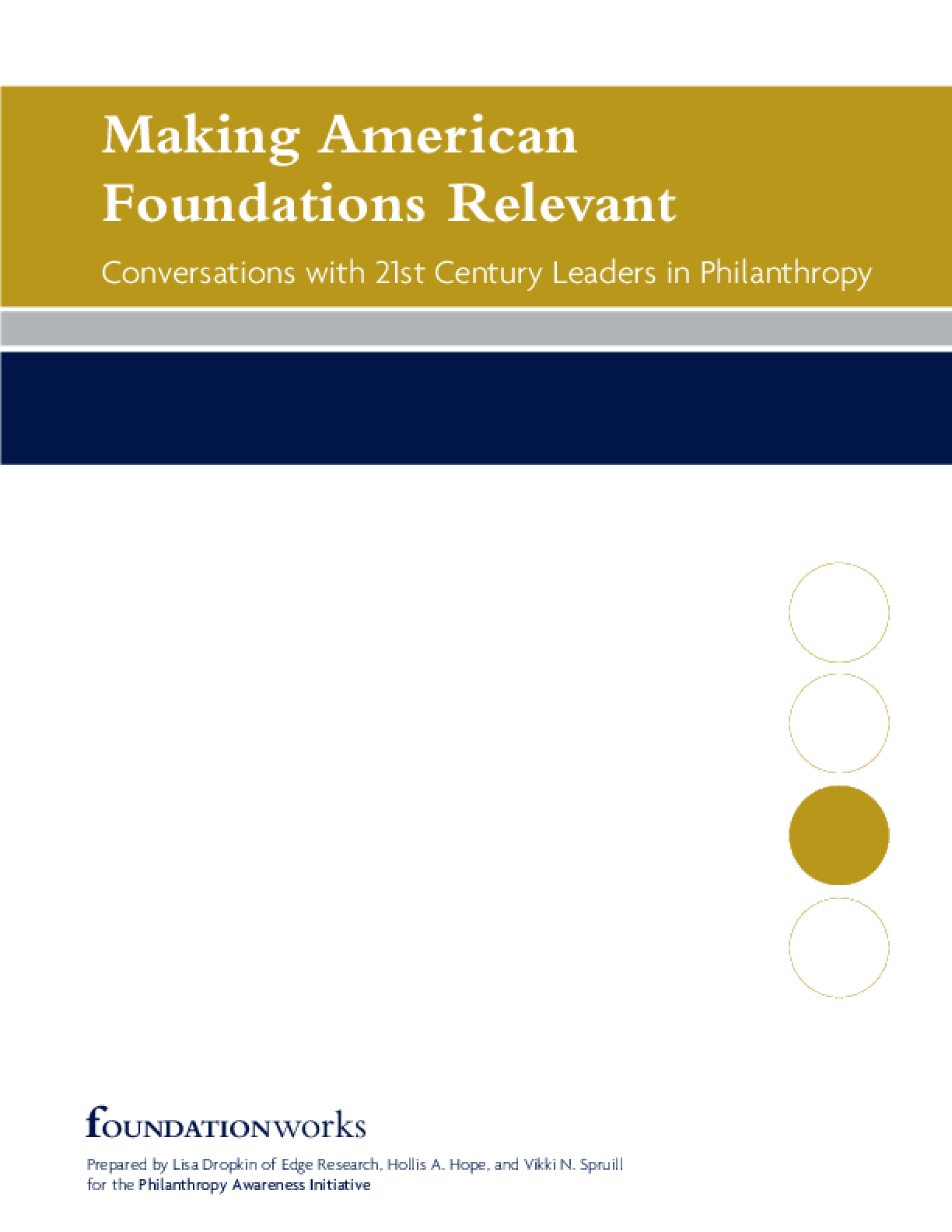 Making American Foundations Relevant