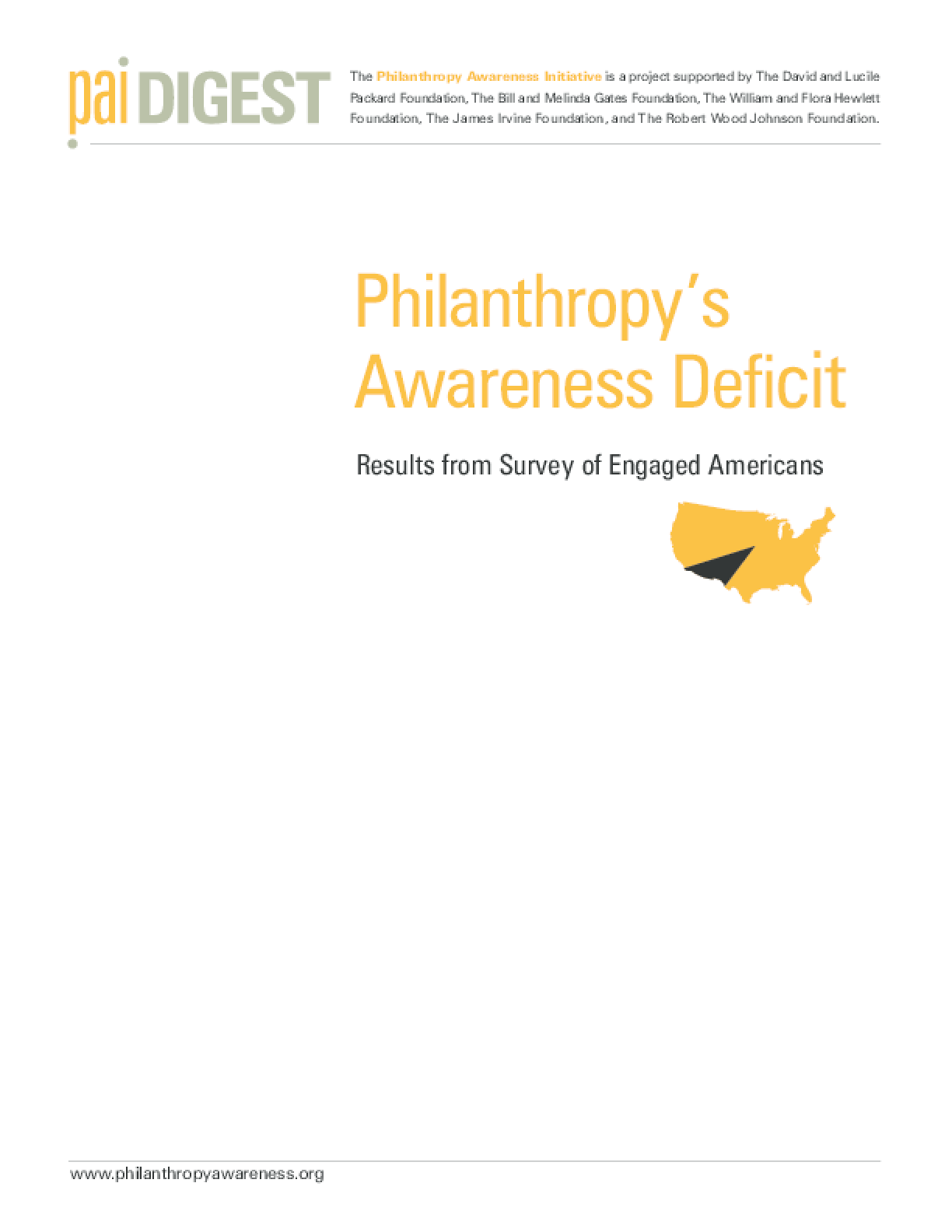 Philanthropy's Awareness Deficit