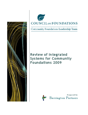 Review of Respondents for Integrated Software Systems for Community Foundations