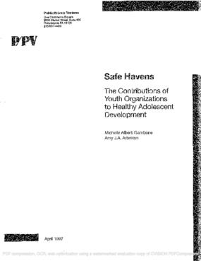 Safe Havens: The Contributions of Youth Organizations to Healthy Adolescent Development