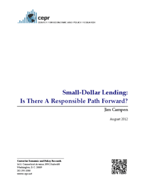 Small-Dollar Lending: Is There A Responsible Path Forward?