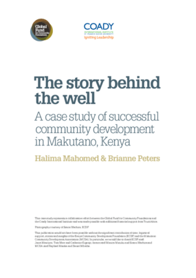 The Story Behind the Well: A Case Study of Successful Community Development in Makutano, Kenya