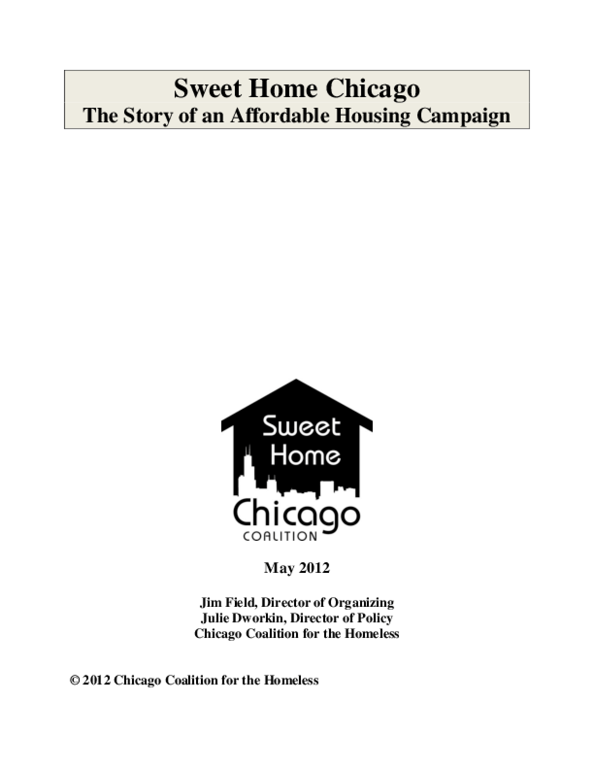 Sweet Home Chicago: The Story of an Affordable Housing Campaign