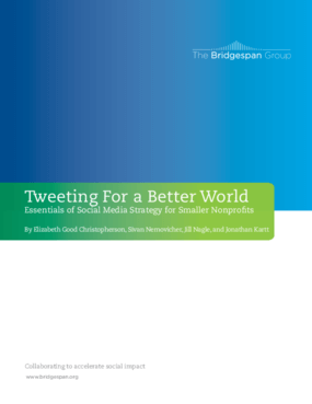 Tweeting For a Better World