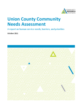 Union County Community Needs Assessment: A report on human service needs, barriers, and priorities