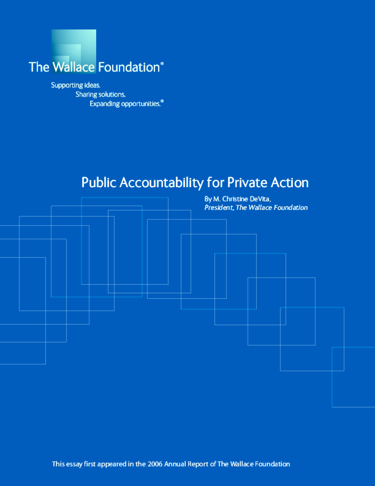 Public Accountability for Private Action
