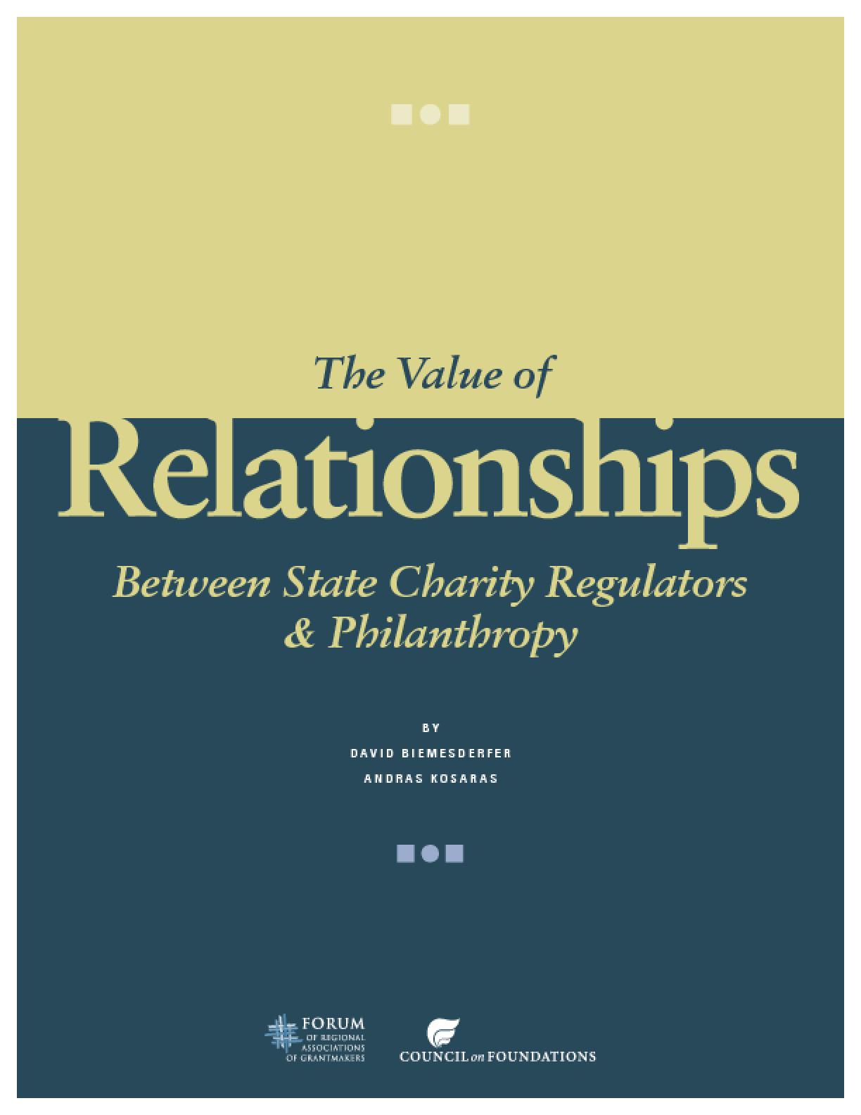 Value of Relationships Between State Charity Regulators & Philanthropy