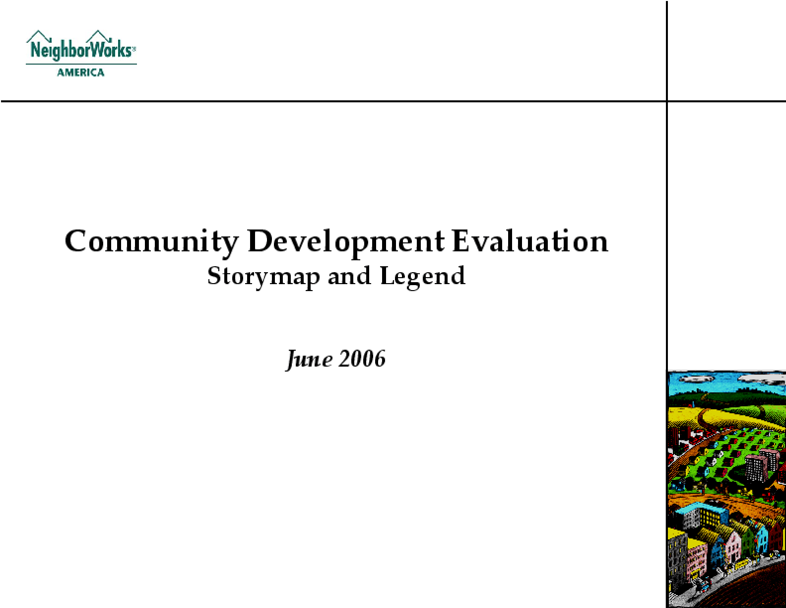 Community Development Evaluation Storymap and Legend