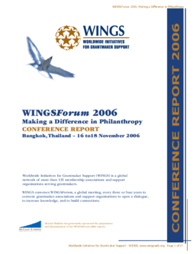 WINGSForum 2006: Making a Difference in Philanthropy, Conference Report