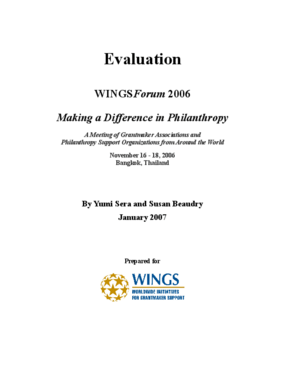 WINGSForum 2006: Making a Difference in Philanthropy, Evaluation