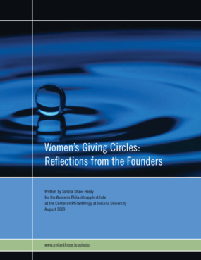 Women's Giving Circles: Reflections from the Founders