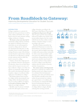 From Roadblock to Gateway: Improving Developmental Education for Student Success